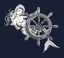 Chrome Style Nautical Mermaid Applique by Garaga