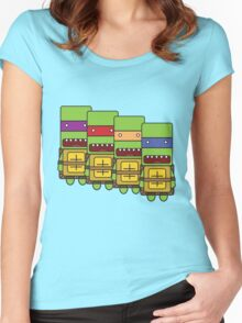 Teenage Mutant Ninja Turtles! Women's Fitted Scoop T-Shirt