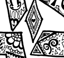 """Ahavah"" - Hebrew Zentangle Sticker"