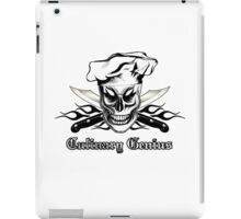 Chef Skull 4: Culinary Genius 3 black flames iPad Case/Skin