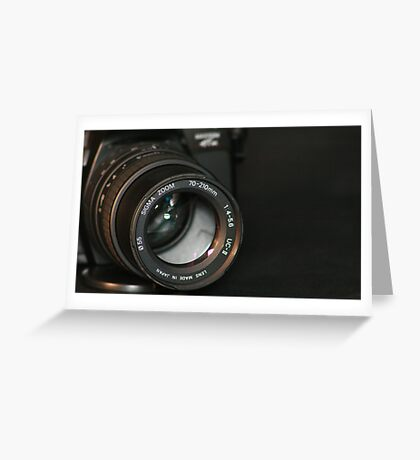 Sigma Zoom Greeting Card