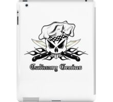 Chef Skull 2.3: Culinary Genius 3 black flames iPad Case/Skin