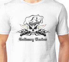 Chef Skull 2.3: Culinary Genius 3 black flames Unisex T-Shirt