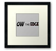 Shadow The Hedgehog - Ow The Edge Framed Print