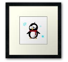Holiday penguin Framed Print