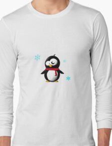 Holiday penguin Long Sleeve T-Shirt