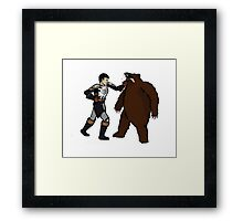 Bear Punch Framed Print