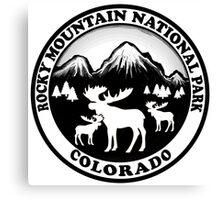 Rocky Mountain National Park Colorado moose design Canvas Print