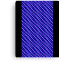 Blue-Pink Carbon Fibre iPhone / Samsung Galaxy Case Canvas Print