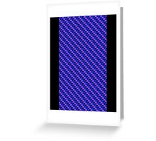 Blue-Pink Carbon Fibre iPhone / Samsung Galaxy Case Greeting Card