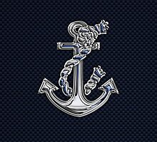 Chrome Style Nautical Rope Anchor Applique by Garaga