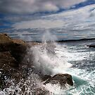 Peggy&#x27;s Cove Splash by Al Bourassa
