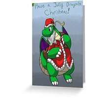 Shiny Delivery Christmas Dragonite Greeting Card