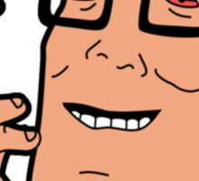 "Hank Hill in ""Marijuana and Marijuana Accessories"" Sticker"