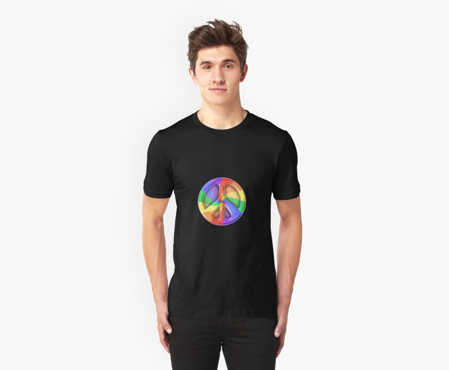 Rainbow Peace sign by Roch Herrick