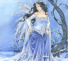 Blue Ice Snow Queen Fairy by meredithdillman