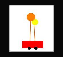 POPPY LOPS, little red wagon art.  by ackelly4