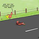 Chicken Cartoon featuring a dead chicken.  by David Stuart