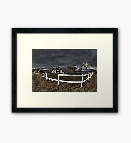 Ranch Motel Framed Print