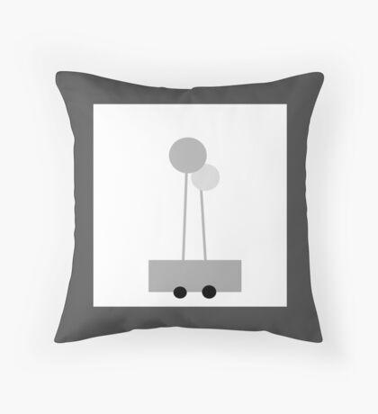 POPPY LOPS, little wagon art.  Throw Pillow