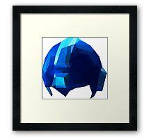 Fractal Blue Hero Framed Print