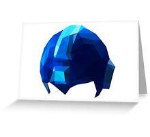 Fractal Blue Hero Greeting Card