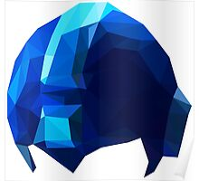 Fractal Blue Hero Poster