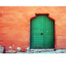 Door In Orange Photographic Print