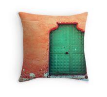 Door In Orange Throw Pillow