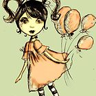 Girl with pink balloons! by missmilly