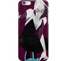 watercolor spider gwen iPhone Case/Skin