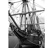Old Sailing Ship BW Photographic Print