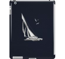 Chrome Style Nautical Sail Boat Applique iPad Case/Skin