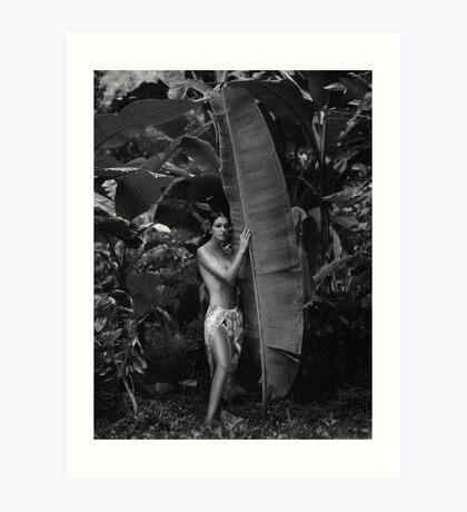 Girl in Tahiti Art Print