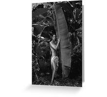 Girl in Tahiti Greeting Card