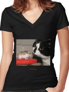 Best Of Friends Women's Fitted V-Neck T-Shirt