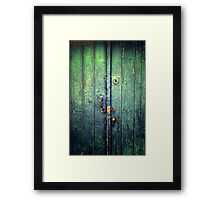 Blue Door In Avanos Framed Print
