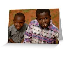 african boys Greeting Card