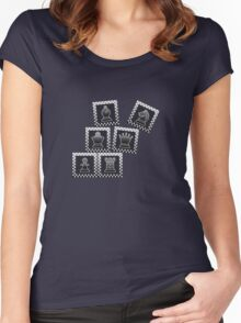 Chess - Black borders toppling Women's Fitted Scoop T-Shirt