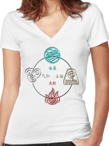 Avatar Cycle Women's Fitted V-Neck T-Shirt