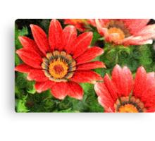Vivid Orange African Daisy Digital Oil Painting Canvas Print