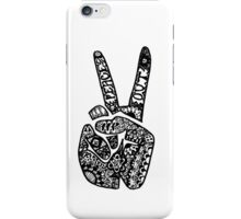 Hand Drawn Peace Out Sign iPhone Case/Skin