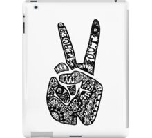 Hand Drawn Peace Out Sign iPad Case/Skin