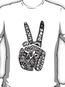 Hand Drawn Peace Out Sign T-Shirt