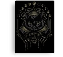 Black Cat Cult Canvas Print