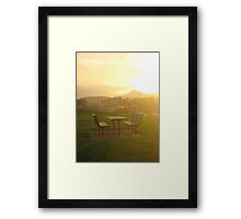 slow service Framed Print