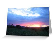 sunset-Malawi Greeting Card