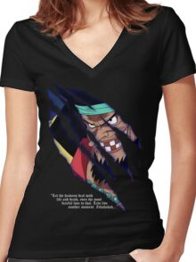 Blackbeard a.k.a. Marshall d Teach Women's Fitted V-Neck T-Shirt