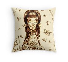 Polly! Throw Pillow