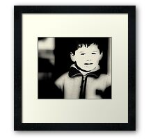 I M HAPPY NOW :) Framed Print